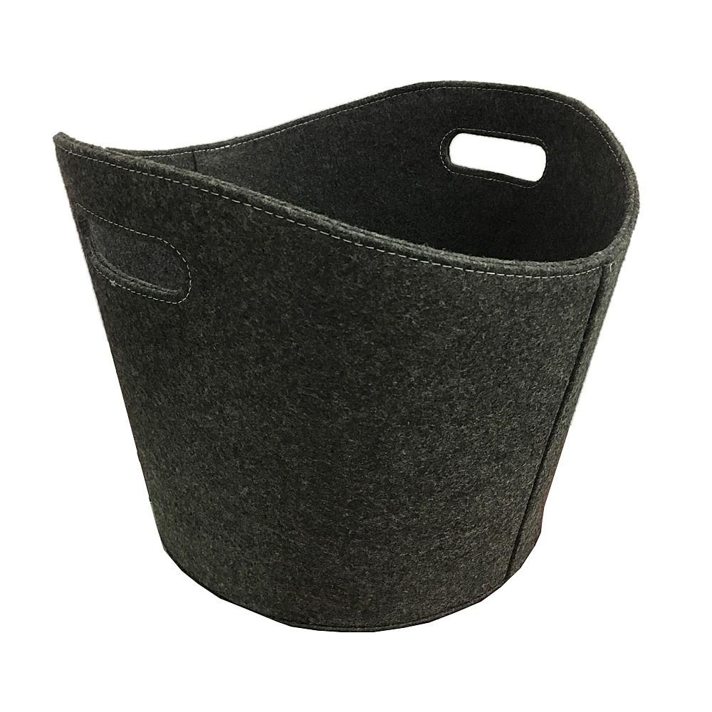 holzkorb kaminholzkorb s d metall filzkorb anthrazit oval 39cm bei. Black Bedroom Furniture Sets. Home Design Ideas