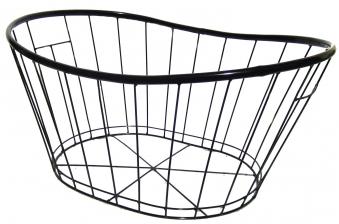 Holzkorb Habau oval aus Polyethylen mit Metallrahmen 63x44x30cm Bild 2