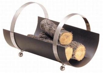 Holzkorb - Holzlege Lienbacher anthrazit Chrom 34x33x50cm Bild 1