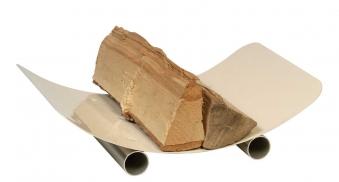 Holzkorb - Holzlege Lienbacher elfenbeinfarbig 46x30x10cm Bild 1