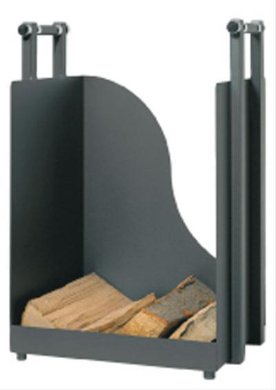 Holzkorb / Holzlege Lienbacher schwarz 60x40x36cm Bild 1