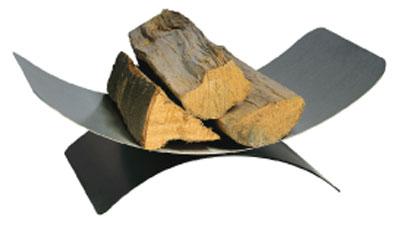 Holzkorb - Holzlege Lienbacher schwarz Edelstahl 15x46x30cm Bild 1