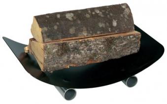 Holzkorb - Holzlege Lienbacher schwarz Edelstahl 46x10x30 cm Bild 1