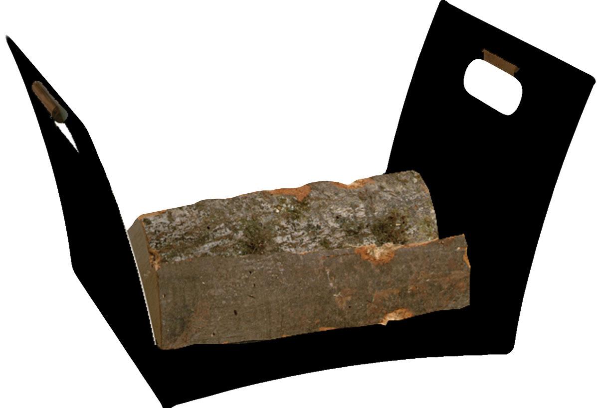 Holzkorb / Holzlege Lienbacher schwarz beschichtet 53x35x30cm Bild 1