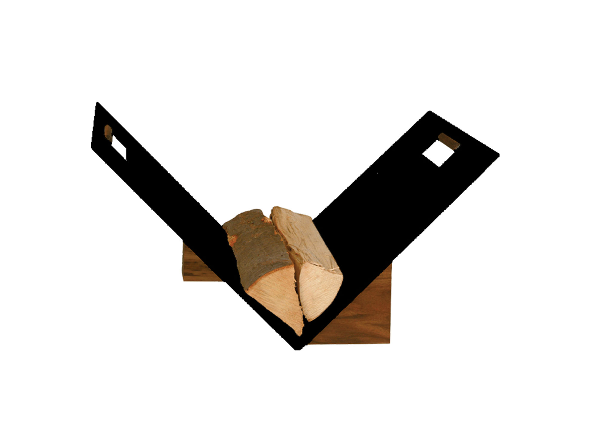 Holzkorb / Holzlege Lienbacher schwarz beschichtet 60x38x44cm Bild 1