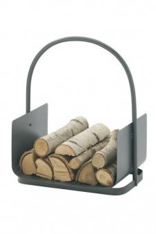 Holzkorb / Holzlege Süd-Metall anthrazit 44,5x40x30cm Bild 1