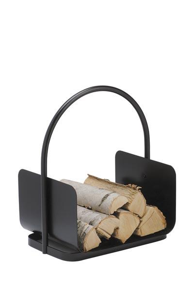 Holzkorb / Holzlege Süd-Metall schwarz 50,0 x40x30cm Bild 1