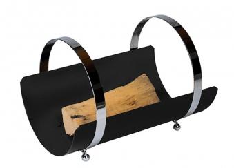 Holzkorb / Holzlege Tasse Lienbacher schwarz beschichtet 50x33x34cm Bild 1
