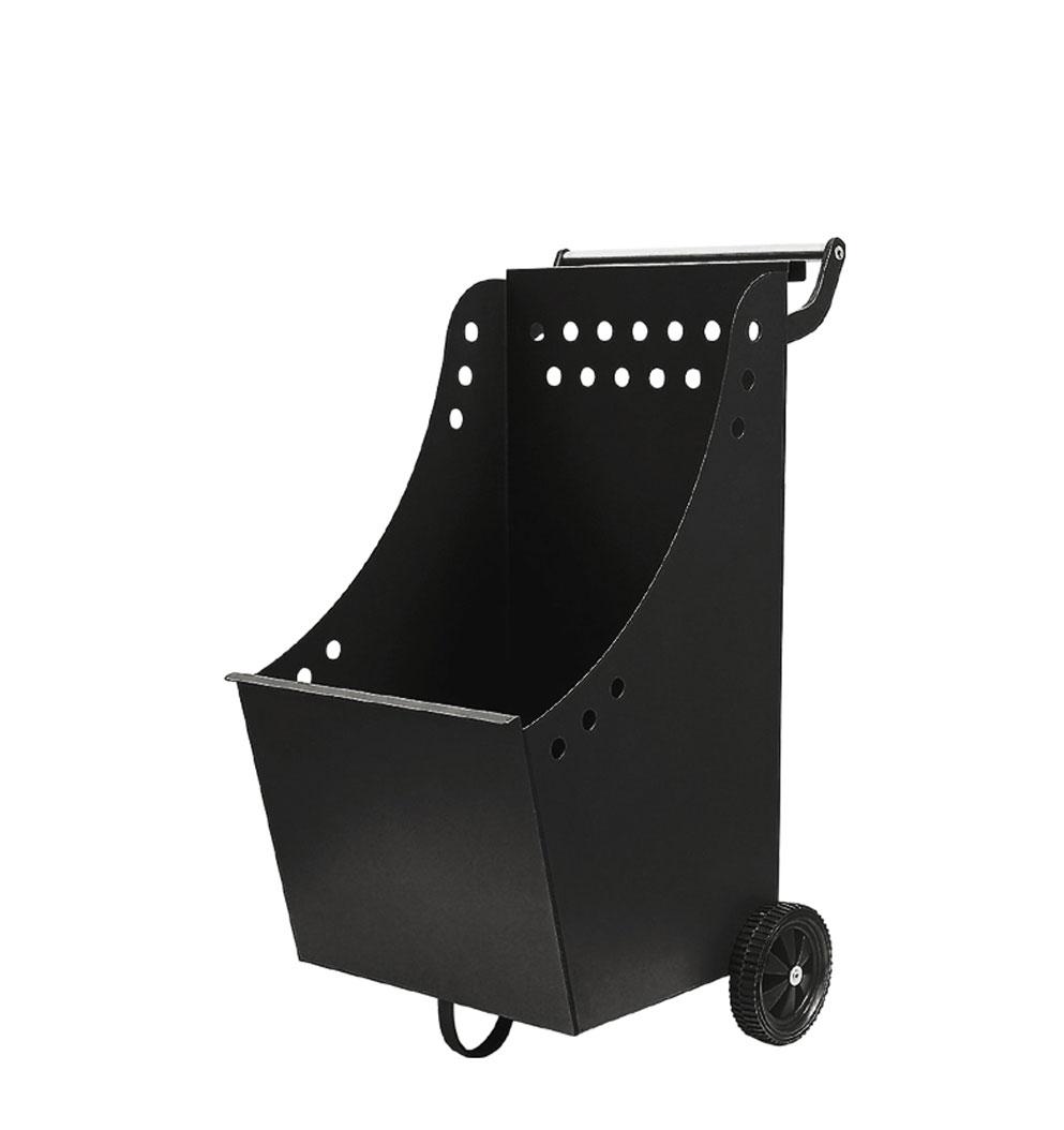 Holzkorb / Holzwagen Lienbacher schwarz beschichtet 40x42x84cm Bild 1