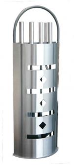 Kaminbesteck Kamingarnitur + Holzkorb Süd-Metall Edelstahl 4tlg 66,5cm Bild 3