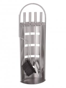 Kaminbesteck / Kamingarnitur Lienbacher Edelstahl 4teilig H 68cm Bild 1