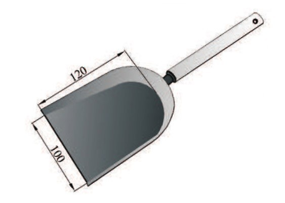 Kaminbesteck / Schaufel grau mit Holzstiel klein Bild 1