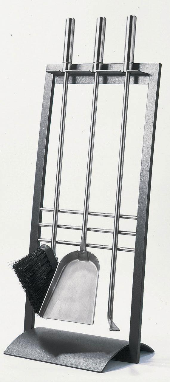 Kaminbesteck / Kamingarnitur Lienbacher Mia anthrazit 3-tlg H 65cm Bild 1