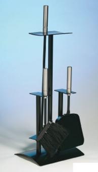 Kaminbesteck / Kamingarnitur Lienbacher schwarz Edelstahl 3tlg H 64cm Bild 1