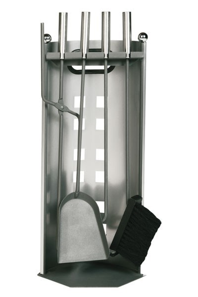 Kaminbesteck / Kamingarnitur Lienbacher schwarz/grau Edelst. 4tlg 58cm Bild 1