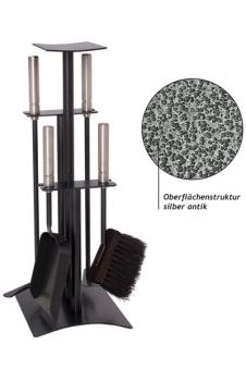 Kaminbesteck / Kamingarnitur Lienbacher silber antik Edelst. 4tlg 53cm Bild 1