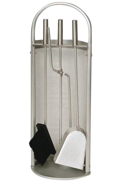 Kaminbesteck / Kamingarnitur Lienbacher silberf. 3tlg Gitter 68cm Bild 1