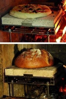 Ofeneinsatz / Pizzastein Pizza Casa Edelstahl 10-teilig Bild 2