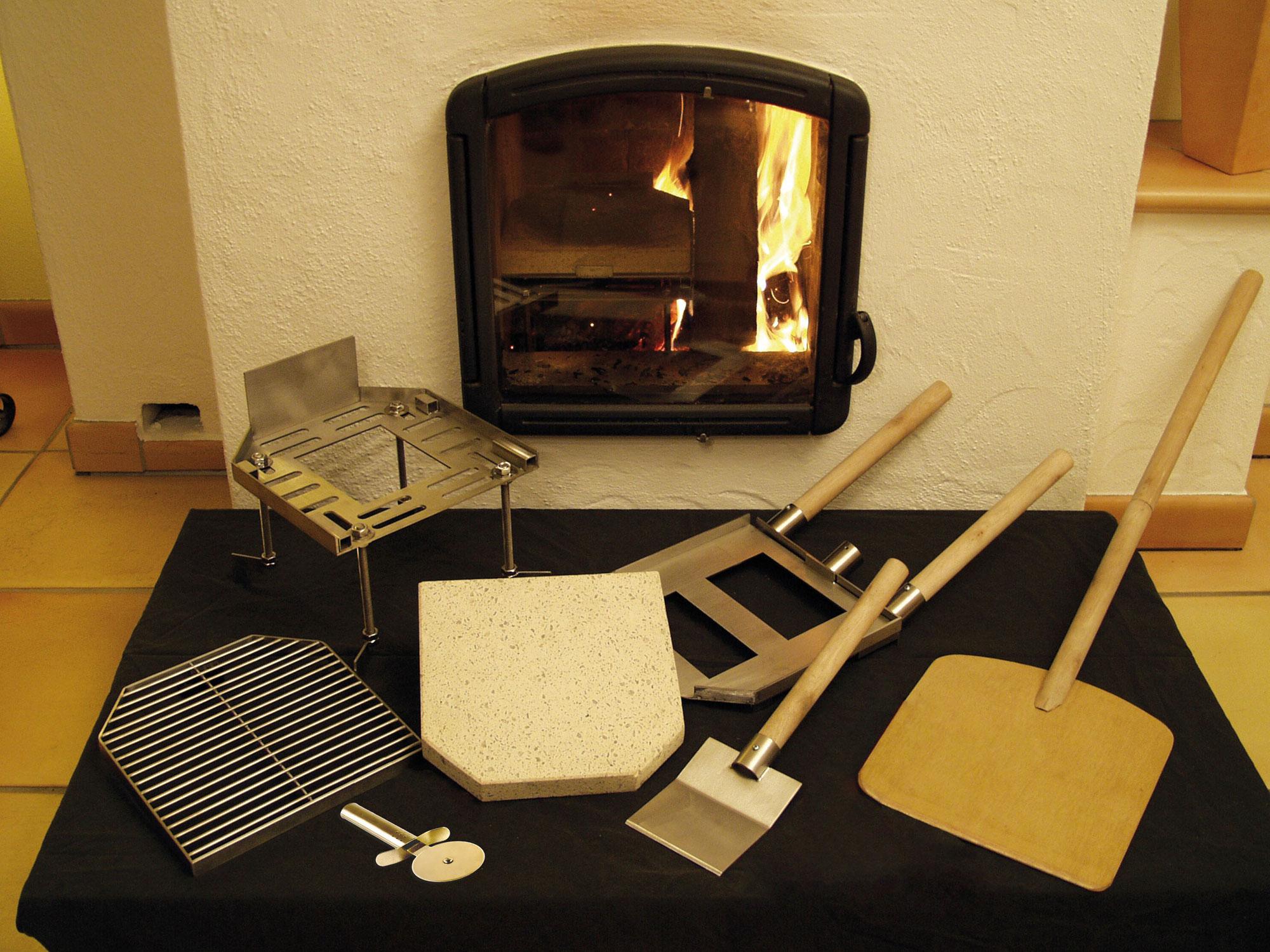 Ofeneinsatz / Pizzastein Pizza Casa Edelstahl 10-teilig Bild 1