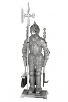 Kaminbesteck / Kamingarnitur Süd-Metall Ritter Eisen 3-teilig 71cm Bild 1