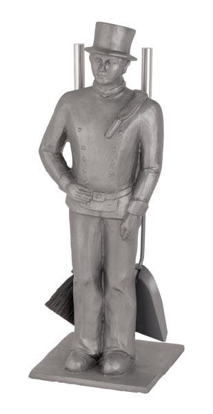 Kaminbesteck Süd-Metall Schornsteinfeger Aluminiumguß 3-teilig 66cm Bild 1