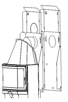 Brandschutz-Set für Haas+Sohn Kaminbausatz Lyon Bild 1