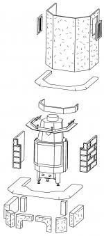 Kaminbausatz Hark Aspen mit Radiante 800/45 K Marmor Naturweiß 8 kW Bild 2
