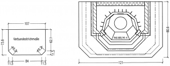 Kaminbausatz Hark Aspen mit Radiante 800/45 K Marmor Naturweiß 8 kW Bild 3