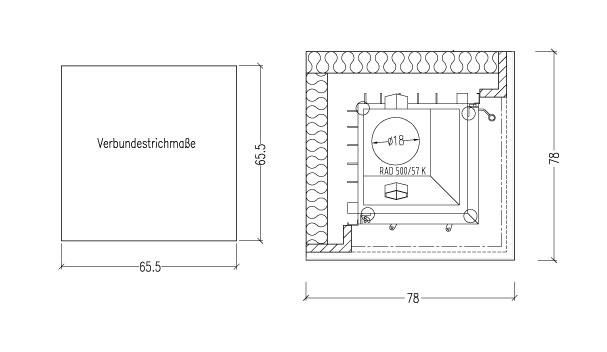 Kaminbausatz Hark Easy 500 mit Radiante 500/57 K Granit schwarz 8 kW Bild 3