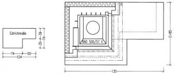 Kaminbausatz Hark Nebraska mit Radiante 500/57 K Marmor Bank links 8kW Bild 3