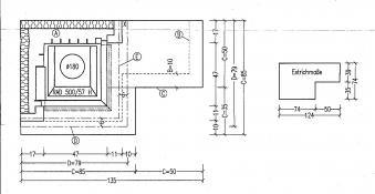 Kaminbausatz Hark Nebraska mit Radiante 500/57K Marmor Bank rechts 8kW Bild 3