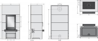 Kaminbausatz Justus Centro Beton Schiefer raumluftunabhängig 7kW Bild 4