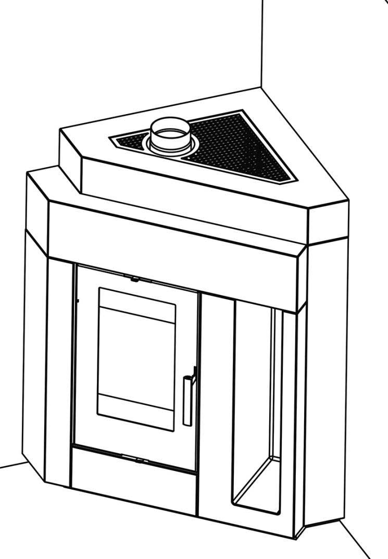 Rauchrohranschluss Set oben Haas+Sohn Pinus-II Eck Bild 2