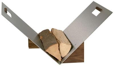 holzkorb holzlege lienbacher edelstahl nussholz 60x44x38cm bei. Black Bedroom Furniture Sets. Home Design Ideas