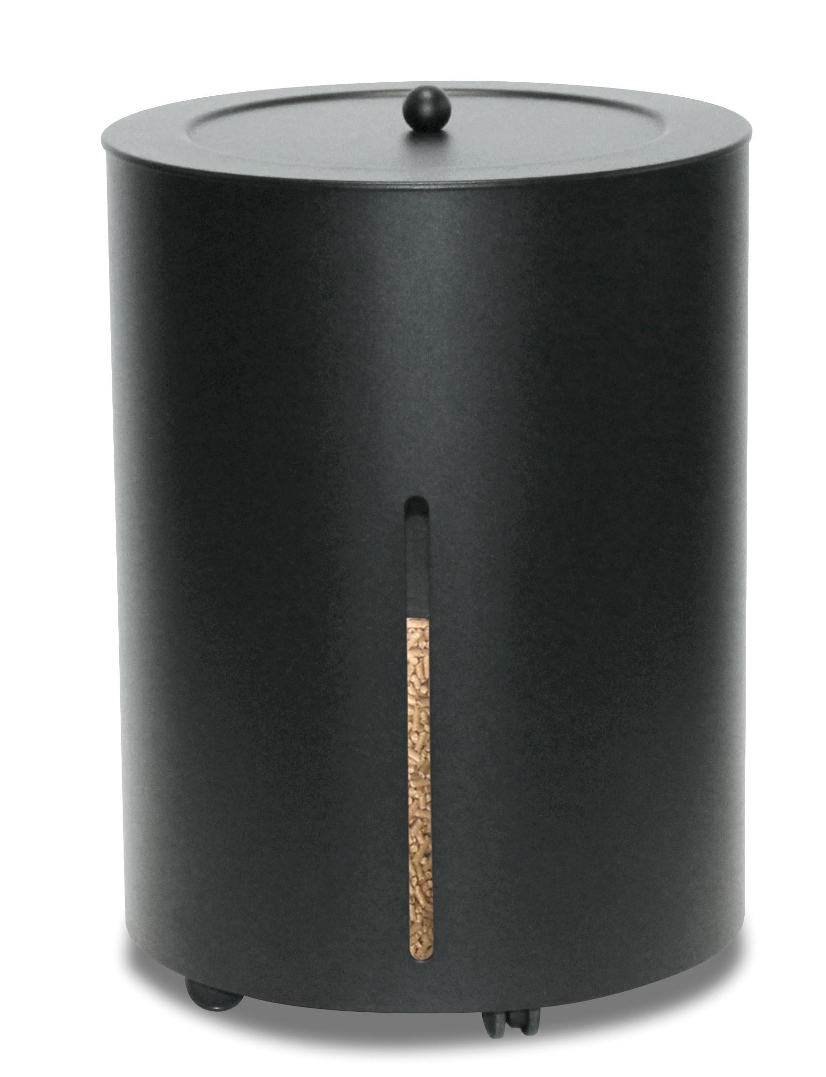 pellets box pelletbeh lter mit deckel lienbacher fahrbar schw 38cm bei. Black Bedroom Furniture Sets. Home Design Ideas