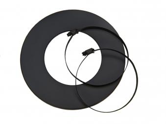 Rosette für flexibles Lüftungsrohr Ø100mm schwarz