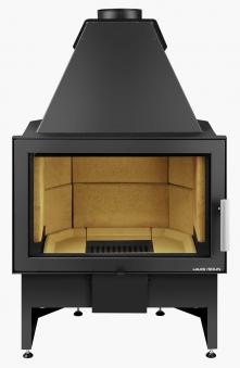 Kamineinsatz Haas+Sohn Komfort-IV 180.18 schwarz raumluftunabh. 8kW Bild 1