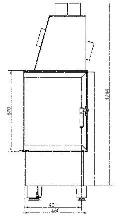 Kamineinsatz Hark Radiante 500/57 K schwarz 8kW Bild 2