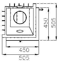 Kamineinsatz Hark Radiante 500/57 K schwarz 8kW Bild 3