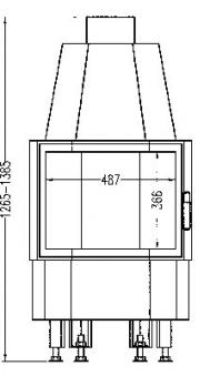 Kamineinsatz Hark Radiante 800/45 K 8 kW Bild 2