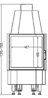 Kamineinsatz Hark Radiante 800/57 K 8 kW Bild 2