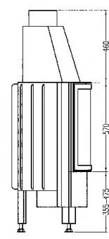 Kamineinsatz Hark Radiante 800/57 K 8 kW Bild 3