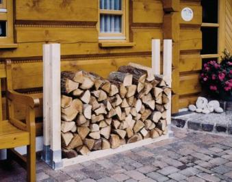 Holzstapelhalter feuerverzinkt Bild 1