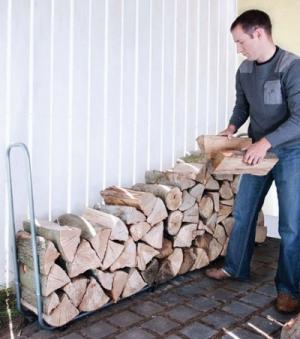 Holzstapelhilfe Wolfcraft verstellbar 234x31x104,5cm Bild 2