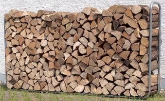 Holzstapelhilfe Wolfcraft verstellbar 234x31x104,5cm Bild 3