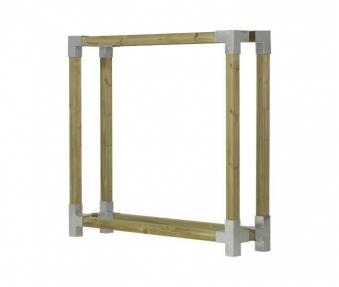 Kaminholzregal Brennholzregal Cubic Plus 206x50x188cm natur kdi Bild 1