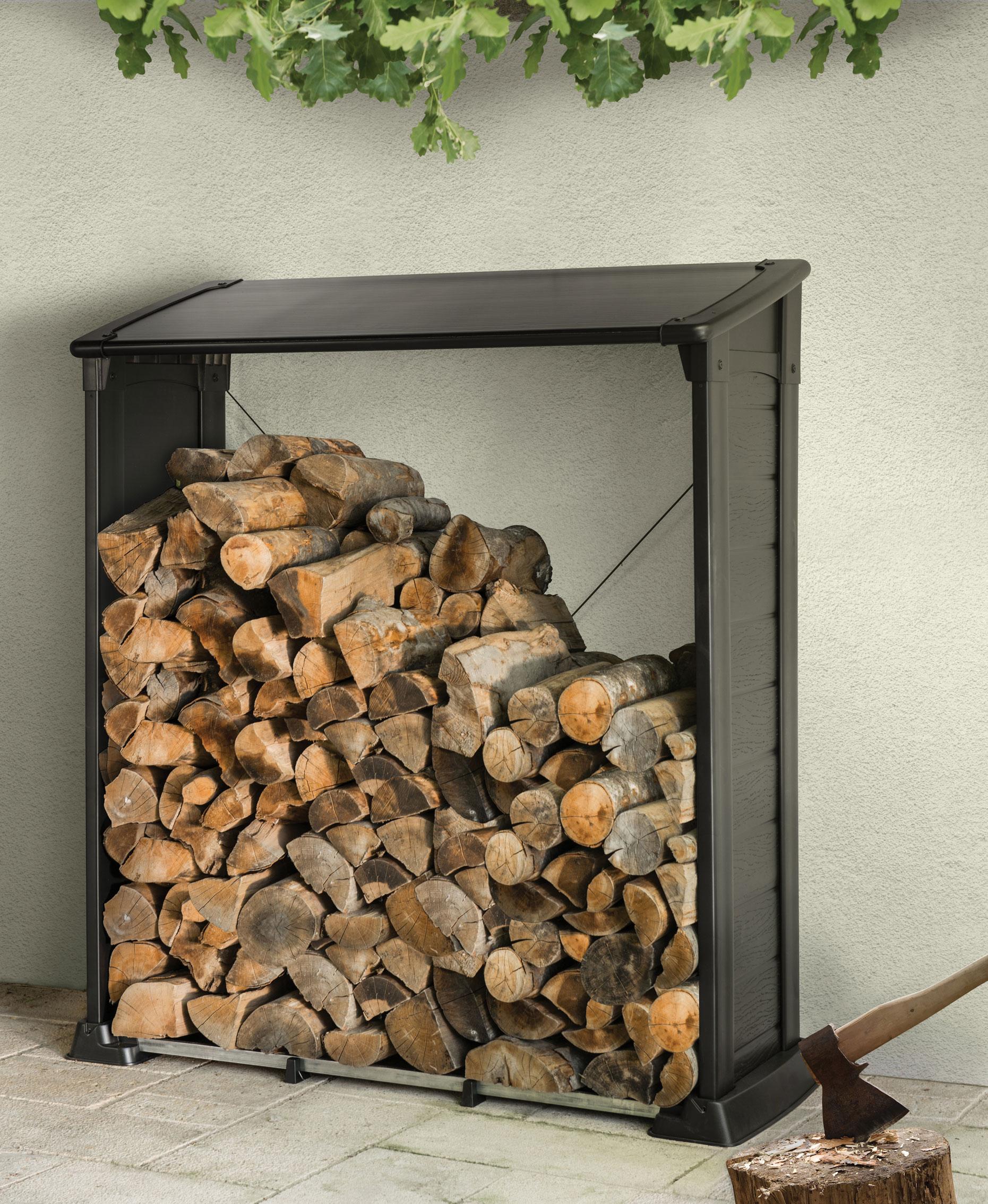 Brennholzregal  Kaminholzregal / Brennholzregal Tepro Keter 157,5x60,5x159cm - bei ...