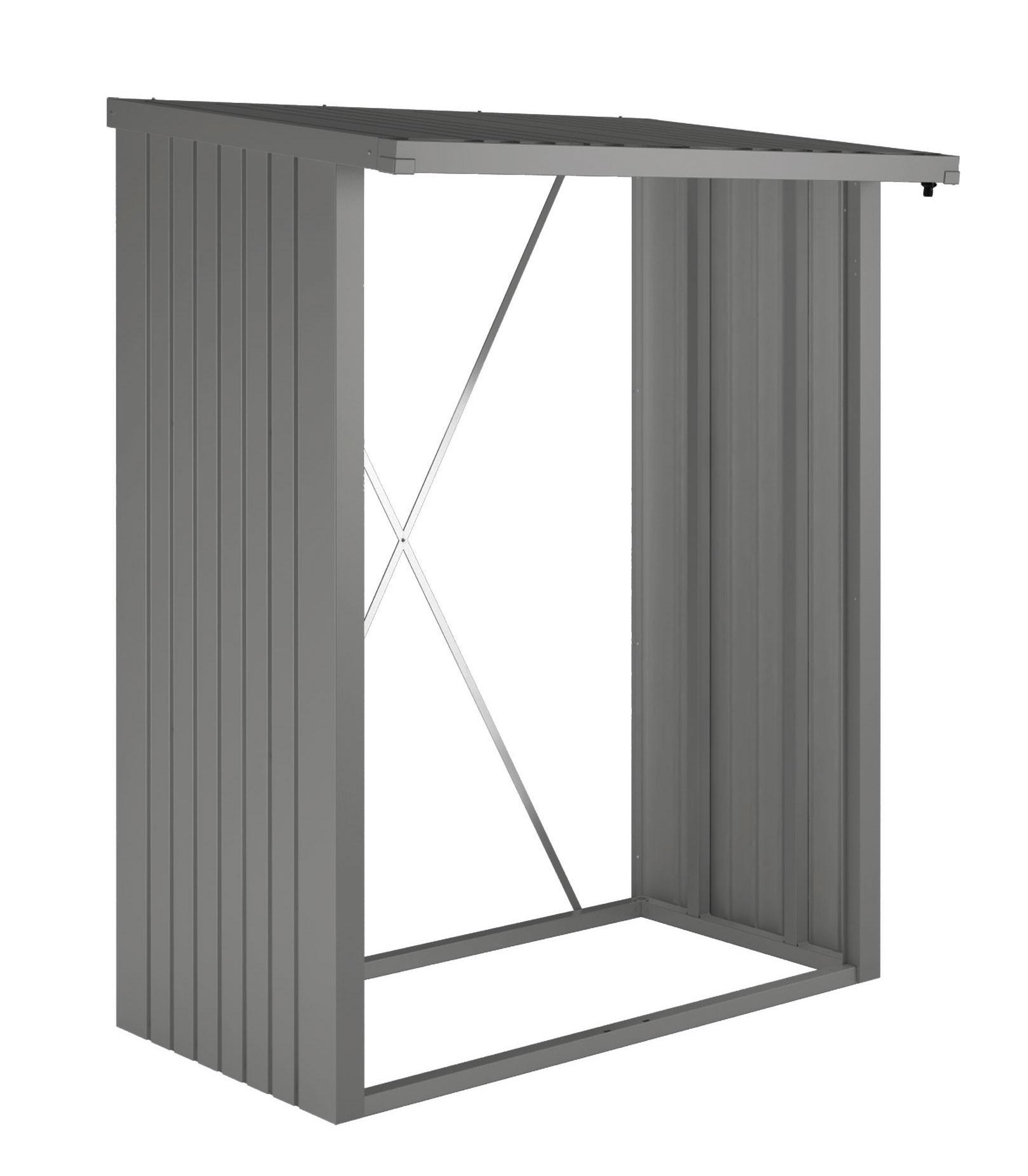 kaminholzregal ger teschrank biohort woodstock quarzgrau bei. Black Bedroom Furniture Sets. Home Design Ideas