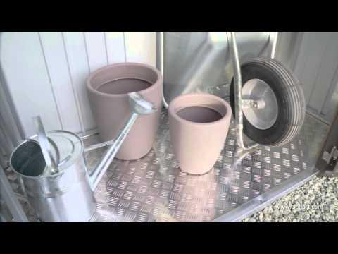 Kaminholzregal / Geräteschrank Biohort Woodstock Gr.150 silbermetallic Video Screenshot 1270