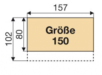Kaminholzregal / Geräteschrank Biohort Woodstock Gr.150 silbermetallic Bild 4